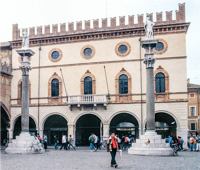 Current façade of the Town Hall (from Città materia colore – Angelo Longo Editore)