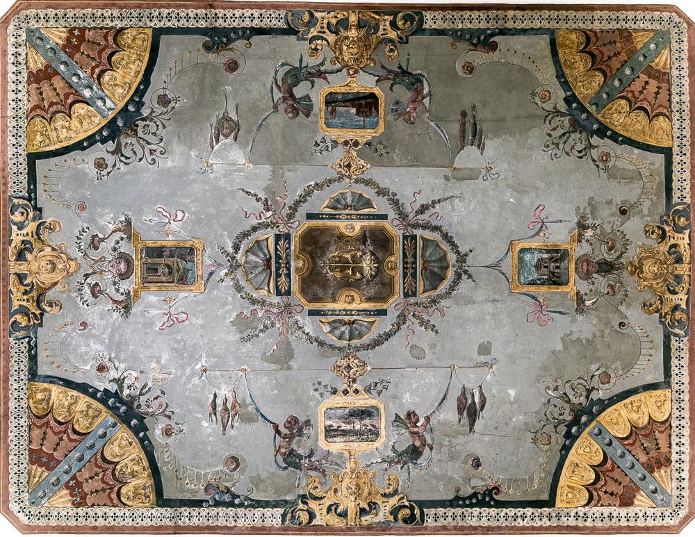 Volte del sottopasso tra Piazza del Popolo e Piazza XX Settembre decorate da Gaetano Savini – vano centrale