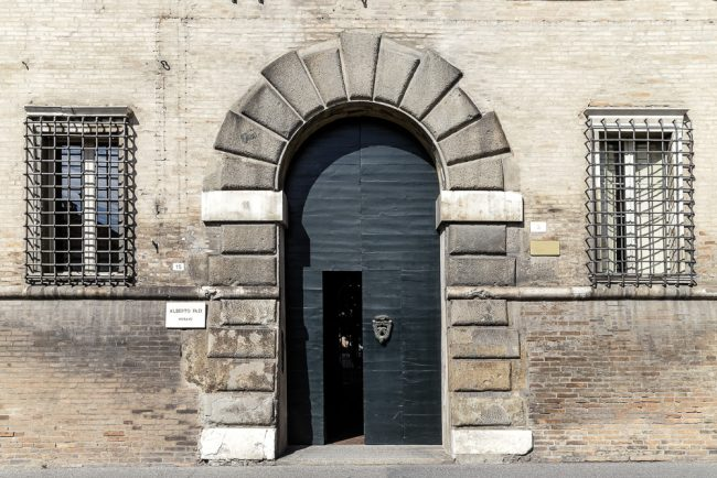 The portal of the palace