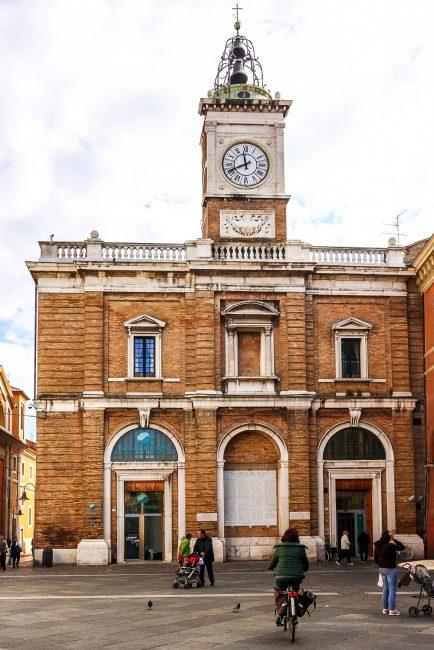 Façade of the building in Piazza del Popolo