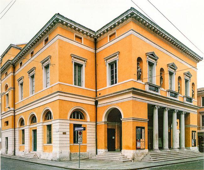 The facade of the theater – Città materia colore – Angelo Longo Editore