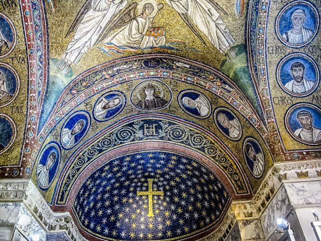 Cappella di S. Andrea – Il mosaico della volta