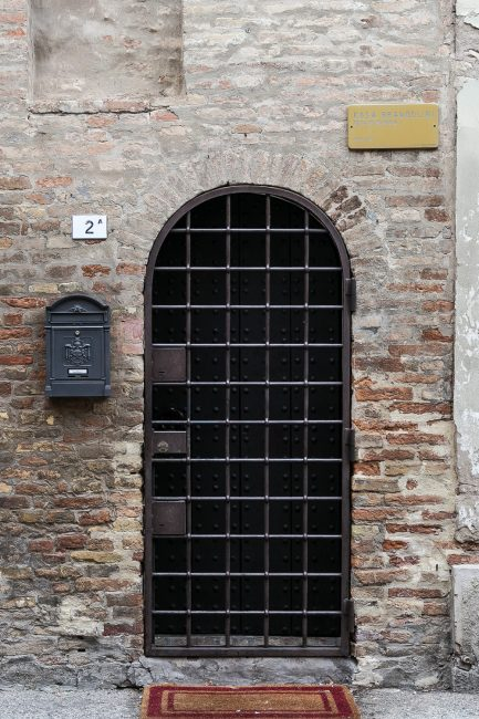 The characteristic front door