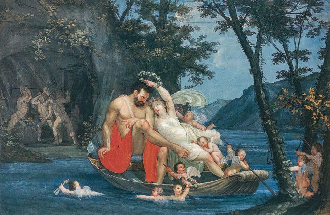 Ciclo decorativo della camera da letto. Gli amori di Venere e Marte – Ravenna segreta – Angelo Longo Editore