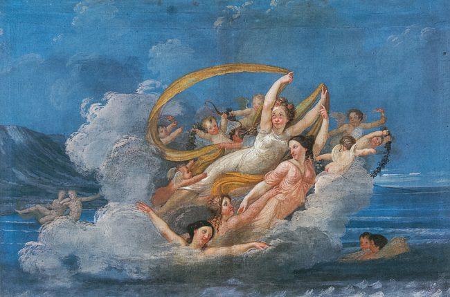 Ciclo decorativo della camera da letto. Trionfo di una divinità marina – Ravenna segreta – Angelo Longo Editore