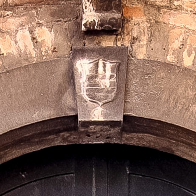 The coat-of arms of Diedo family above the doorway
