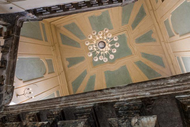 The vaulted ceiling of the monumental stiarway – © Giampiero Corelli Fotoreporter