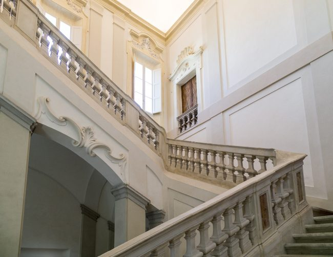 The staircase leading to the main floor