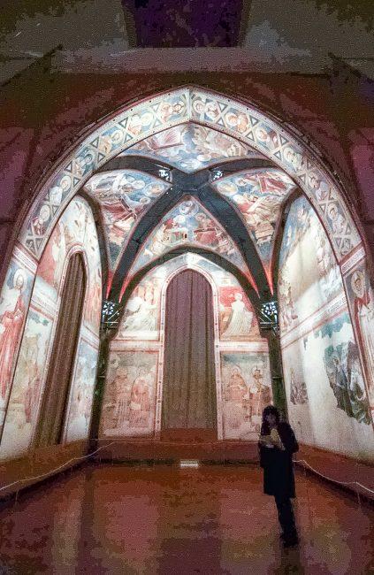Gli affreschi di Santa Chiara, oggi nelle sale del Museo Nazionale: vista d'insieme – Archivio fotografico del Comune di Ravenna