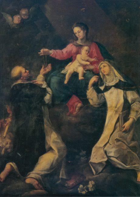 Andrea Barbiani. Sant'Ubaldo libera una indemoniata - Olio su tela 296x202 - (I Barbiani – Angelo Longo Editore) – Navata destra