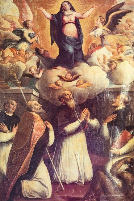 Francesco Longhi. Madonna Assunta e Santi – Olio su tela 305 x 205 – (I Longhi – Angelo Longo Editore) – Navata destra