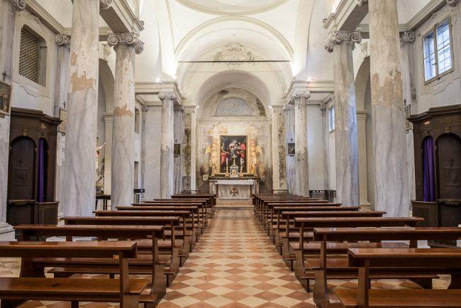 L'interno della chiesa – © Giampiero Corelli Fotoreporter