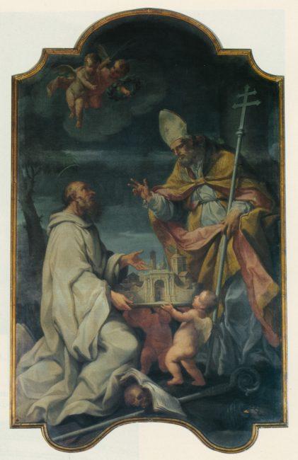 Sant'Apollinare e San Romualdo (Andrea Barbiani, 1708-79) – Olio su tela240x155 – I Barbiani – Angelo Longo Editore (parete destra)
