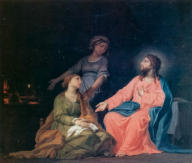 La Maddalena e Gesù in casa di Marta (Domenico Corvi, 1721-1803) - Ravenna Segreta – Angelo Longo Editore
