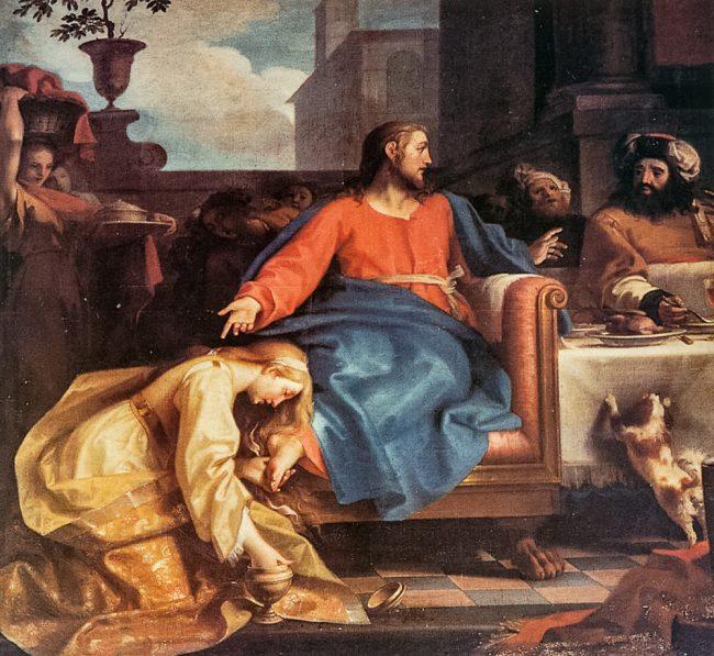 Cristo in casa di Simone il Fariseo (Tommaso Sciacca, 1734-95) - Ravenna Segreta – Angelo Longo Editore (parete sinistra)
