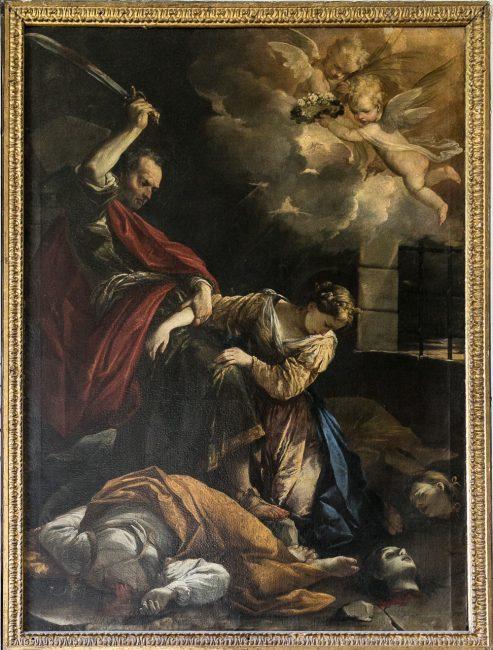 Pala dell'altare principale di Antonio Burrini