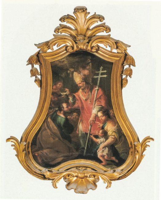 Andrea Barbiani (1708-1779) - Sant'Apollinare battezza il tribuno - Olio su tela 120x110 – I Barbiani – Angelo Longo Editore
