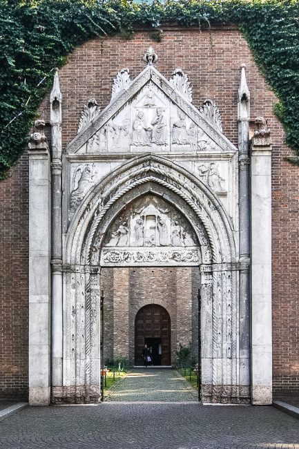 The gothic marble portal