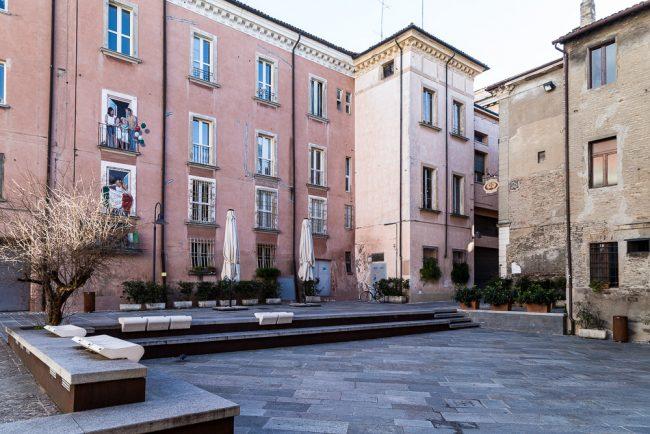 La Piazzetta antiche carceri, oggi Piazza dell'Unità d'Italia