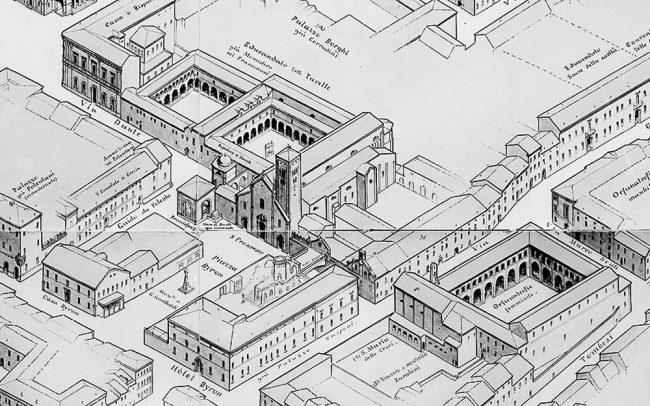 """La """"zona Dantesca"""" disegnata da Gaetano Savini nel 1903 - Archivi fotografici Istituzione Biblioteca Classense - Ravenna"""
