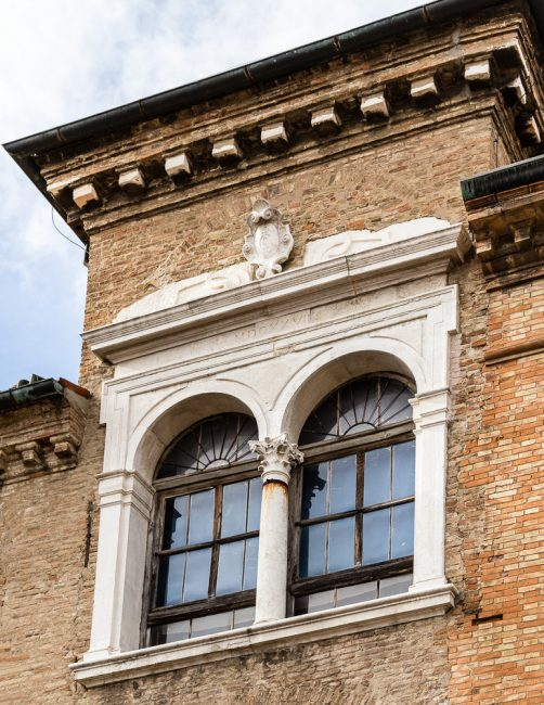 Particolare della facciata esterna