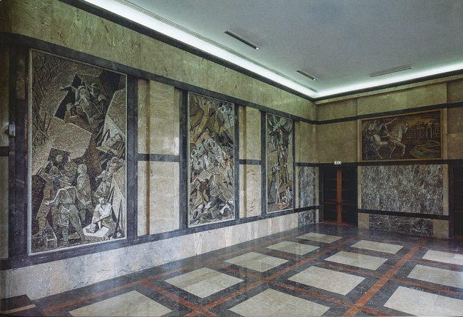 The hall of the mosaics - La nuova Casa del Mutilato - Edizioni del Girasole