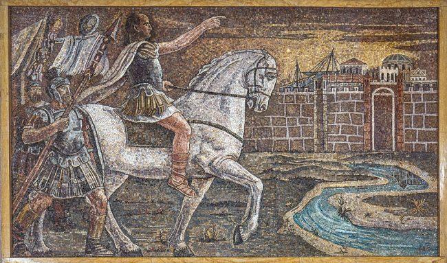 Julius Caesar crosses the Rubicone - La nuova Casa del Mutilato - Edizioni del Girasole