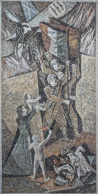 Mosaic on the Spanish Civil War - La nuova Casa del Mutilato - Edizioni del Girasole